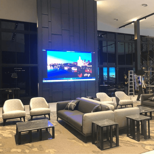 LED videowall reception